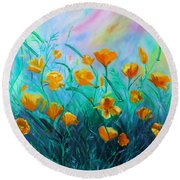 What'a Up Buttercup? Round Beach Towel