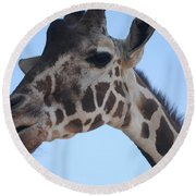 Whatcha Looking At? Round Beach Towel
