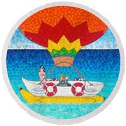 Whatever Floats Your Boat Round Beach Towel