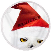 Whatever Round Beach Towel