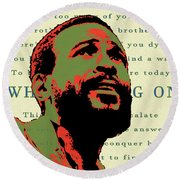 Whats Going On Round Beach Towel