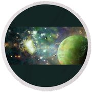 What's Out There Round Beach Towel
