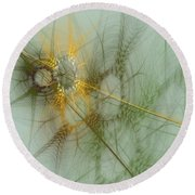 Wheat Design Round Beach Towel