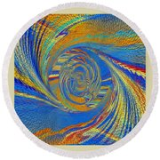 Wheat Ear Round Beach Towel