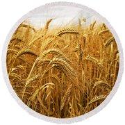 Wheat Round Beach Towel