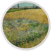 Wheatfield Arles, June 1888 Vincent Van Gogh 1853 - 1890 Round Beach Towel