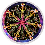 Wheel Of Fortune Round Beach Towel