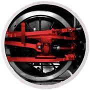 Wheel Of Red Steel Round Beach Towel