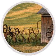 Wheels Of The Palouse Round Beach Towel