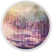 When Earth And Sky Collide Round Beach Towel