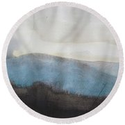 When Etna Idle Round Beach Towel