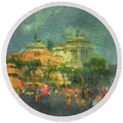 When In Rome 52 - Lasting Impression Round Beach Towel