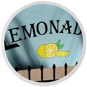 When Life Gives You Lemons Round Beach Towel