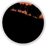 When Silhouettes Come Out Coffee Table Book Cover Round Beach Towel