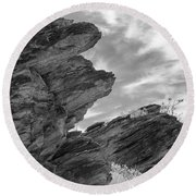 Where Andreas Meets Murray Bw 3 Round Beach Towel