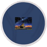 Where Are My Brothers 2 William Schimmel Round Beach Towel