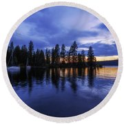 Where Are The Ducks? Round Beach Towel