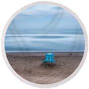 Where Hero's Wait Round Beach Towel