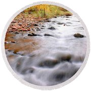 Where Peaceful Waters Flow Round Beach Towel