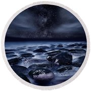 Where Silence Is Perpetual Round Beach Towel