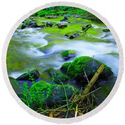 Where The Golden Waters Flow Round Beach Towel