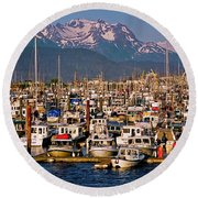 Where The Land Ends ... Round Beach Towel