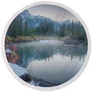 Where The River Bends Round Beach Towel