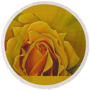 Where The Rose Is Sown Round Beach Towel