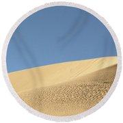 Where The Sand Meets The Sky Round Beach Towel
