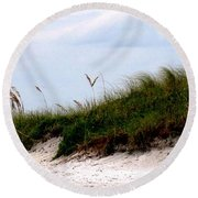 Where The Sea Wind Blows Round Beach Towel