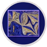 Where The Sky Meets The Sea Abstract Round Beach Towel