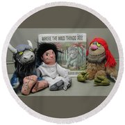 Where The Wild Things Are Round Beach Towel