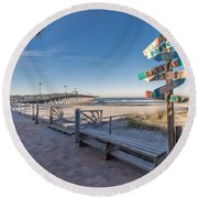 Which Direction? Round Beach Towel