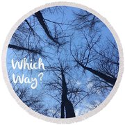Which Way? Round Beach Towel