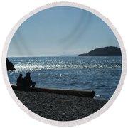 Whidbey Island Beach Round Beach Towel