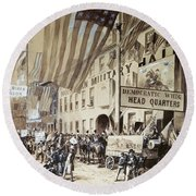 Whig Party Parade, 1840 Round Beach Towel
