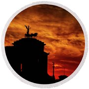 While Rome Burns Round Beach Towel