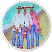 Whimsical Beach Women - The Treasure Hunters Round Beach Towel