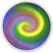 Whimsical Inward Twirls #111 Round Beach Towel