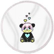 Whimsical Panda  - Cute Animals Round Beach Towel