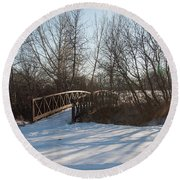 Whimsicle Winter Round Beach Towel