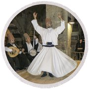 Whirling Dervish Round Beach Towel