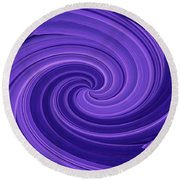 Whirlpool Blues Round Beach Towel