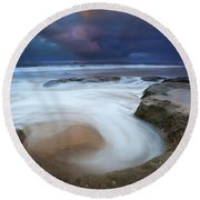 Whirlpool Dawn Round Beach Towel
