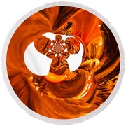 Whirls Abstract Round Beach Towel