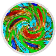 Whirlwind - Abstract Art Round Beach Towel
