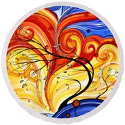Whirlwind By Madart Round Beach Towel by Megan Duncanson