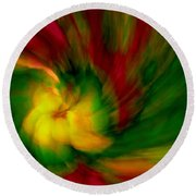 Whirlwind Passion Round Beach Towel