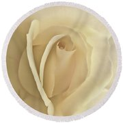Whisper Of A Soft Yellow Rose Flower Round Beach Towel