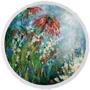 Whispering Charms Round Beach Towel